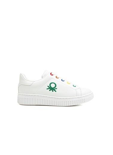 Benetton Bn30022 Çocuk Spor Ayakkabı Beyaz